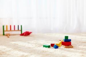 čištění koberců v prostředí s dětmi